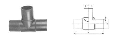 trójnik doczołowy równoprzelotowy