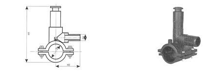 trójnik siodłowy z nawiertką